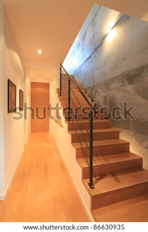 House interior with modern stairs