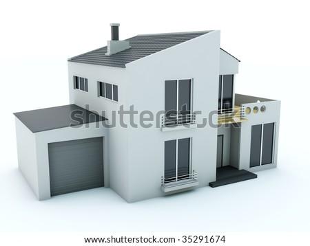 House isolated on white