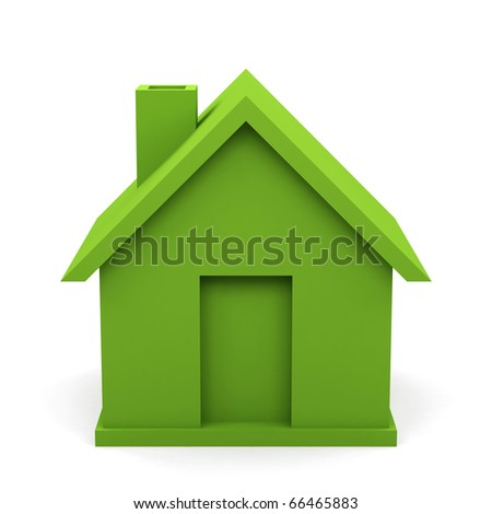 house isolated on white background. 3d image.