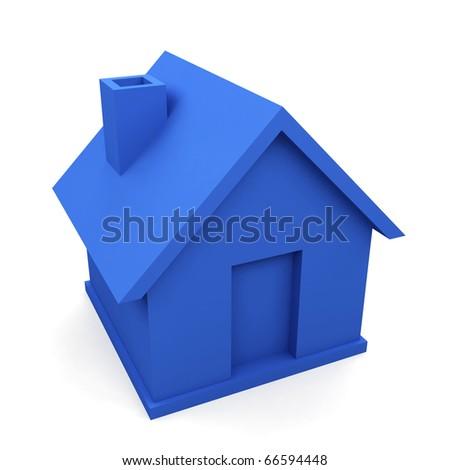 house isolated on white background. 3d image.