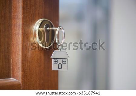 House key in the door #635187941