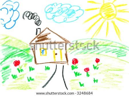 House. Kids art.