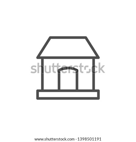 House line icon isolated on white