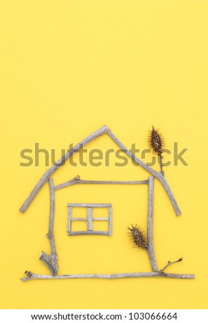 House made of branches