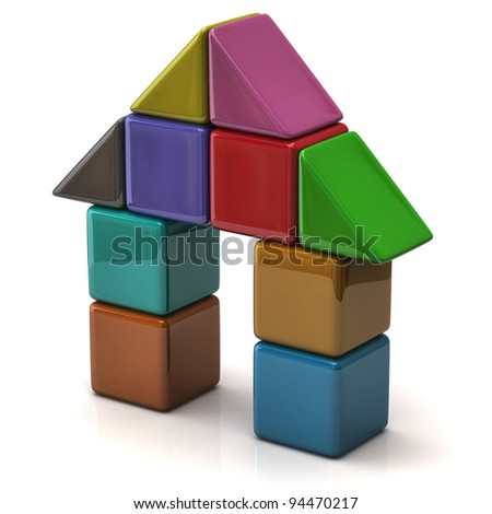 House made of colorful cubes
