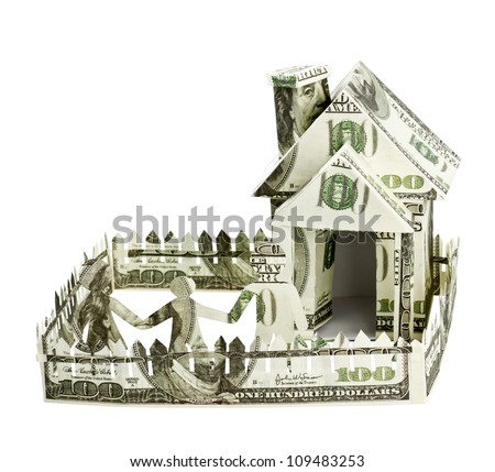 House made of money and the family