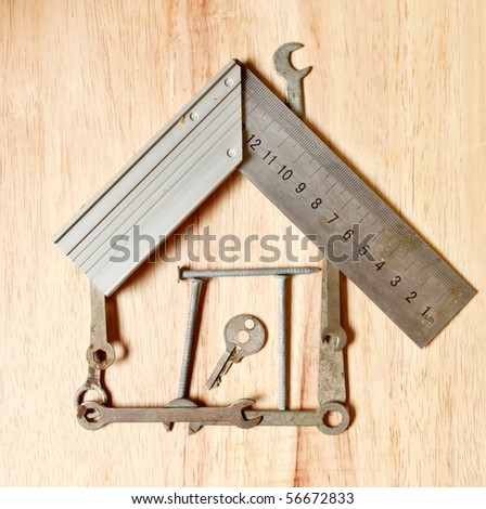 House made of tools, diy concept