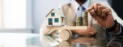 House Model Balance Equilibrium Concept. Real Estate Money