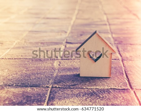 house model in saving plan for residence of people in society, purchasing home for living of dream of community lives. #634771520