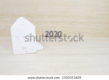 house models on wooden background. Concept Finance. Financing for home loans.