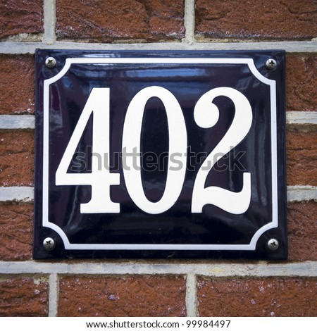 house number 402