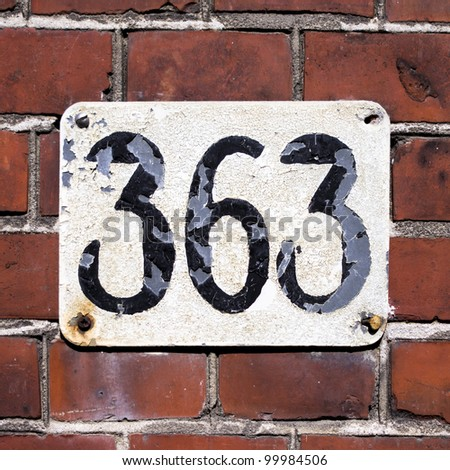 house number 363