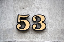 House number fifty three, grungy.