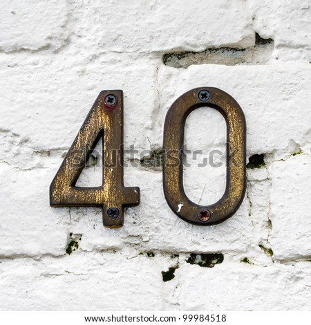 house number forty