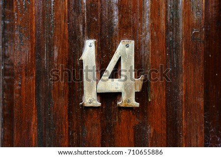 House number fourteen (14) #710655886
