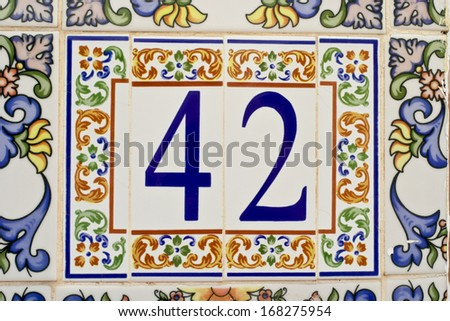 House number on a wall in Spain