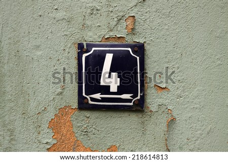 House numbers in different styles and colors (concept for real estate)