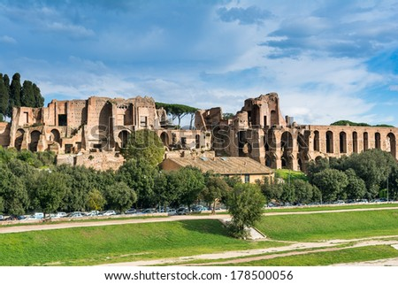 House of Augustus is the first major site upon entering the Palatine Hill in Rome, Italy. It served as the primary residence of Caesar Augustus during his reign