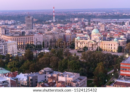 House of the National Assembly of Serbia in Belgrade, Panorama of Belgrade - Serbia   #1524125432
