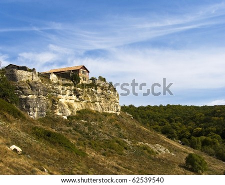 house on a rock Crimea, Ukraine, the medieval fortress