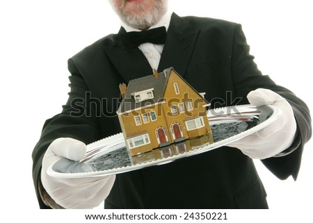 House on a tray