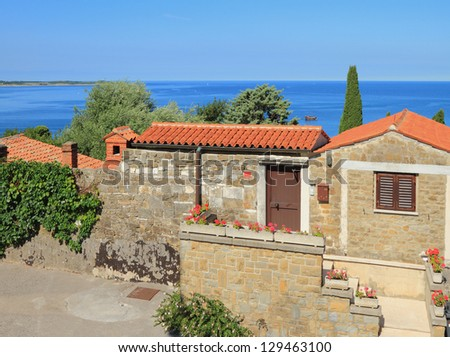 House on Adriatic coast. Piran, Slovenia