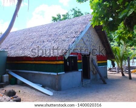 House on Emao Island, Vanuatu, South Pacific, Oceania