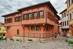 House on One of the Streets of an Old Plovdiv, Bulgaria
