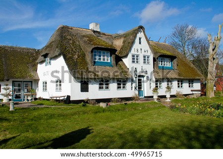 House on the island of Sylt, Germany