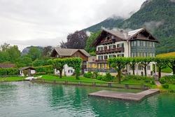 House on the lake Wolfgangsee Austria (Village St. Wolfgang)