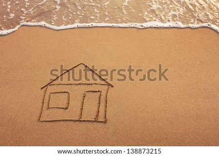 house painted on the beach