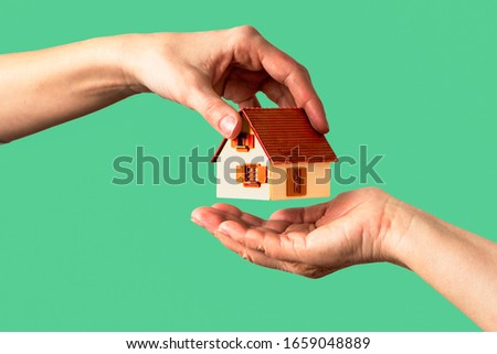 house passed from one hand to another Stock photo ©