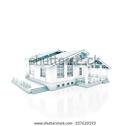 House project isolated on white