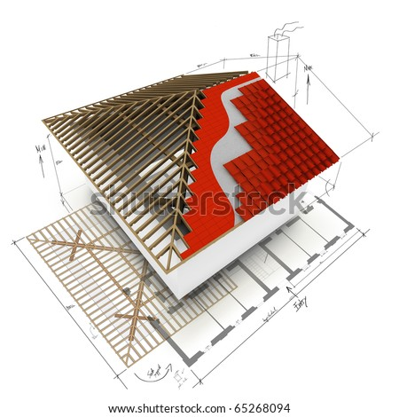 House Roof 3d Design Stock Photo 65268094 Shutterstock