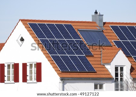 House roof with regenerative energy system
