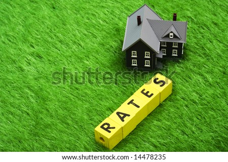 House with alphabet blocks spelling rates â?? mortgage rates