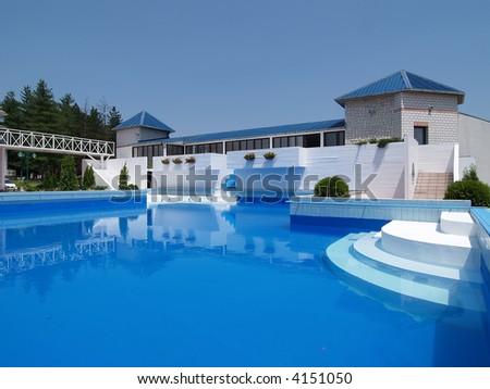 House with large swimming pool stock photo 4151050 for Big mansions with pools