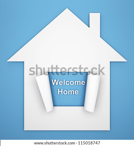 House with open window - stock photo