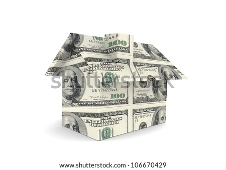 House with US currency