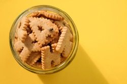 Housefly eating a biscuits, insect come on food can lead to food and waterborne diseases, Flies are summer villains, Health in eating food concept