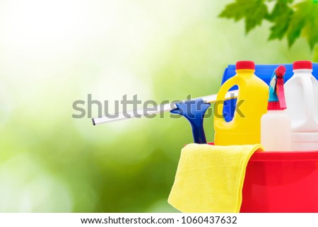 household cleaning and hygiene products, industry and household #1060437632