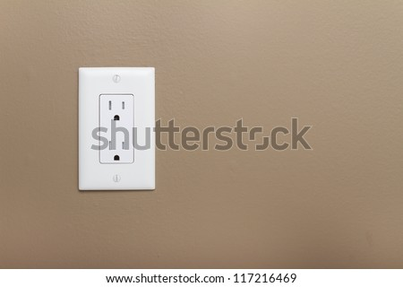 Household Electrical Outlet  on wall. Power 110v