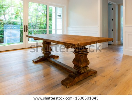 Household furniture and fixtures with chairs, tables, couches and chandeliers. #1538501843
