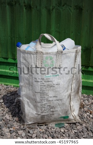 household recycling waste bag