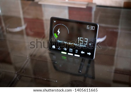 Household smart meter on a cooker