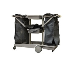 Housekeeping Carts or office cleaning cart on white background