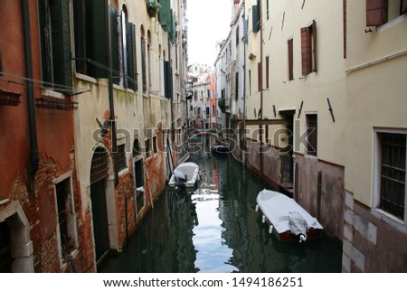 houses and canals in the cityscape #1494186251