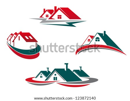 Houses and homes set for real estate business design. Vector version also available in gallery