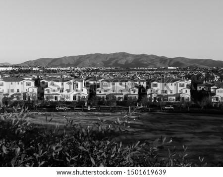 Houses and the mountain, Chula Vista, California, USA #1501619639