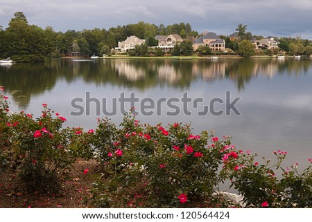 Houses by the lake